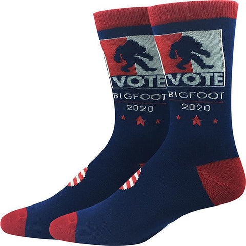 Vote Bigfoot 2020 Socks