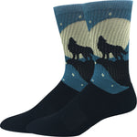 Active Wolf Howl Socks