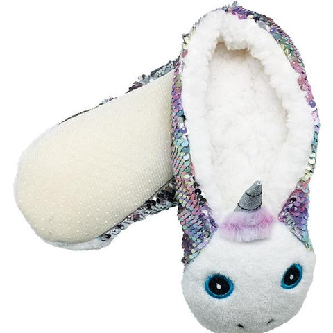 Sequin Unicorn Slippers
