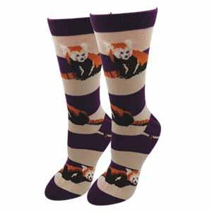 Ladies Red Panda Socks