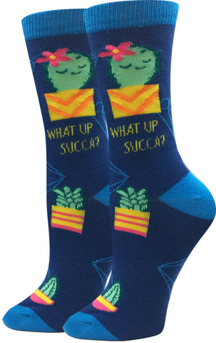 What Up Succa Socks