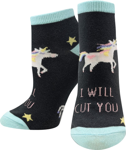 Stabby Unicorn Ankle Socks