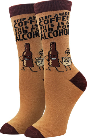 Ladies Move Over Coffee Socks