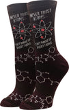 Ladies Never Trust Atoms Socks