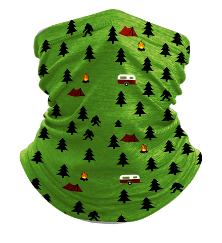 Camping with Bigfoot Neck Gaiter