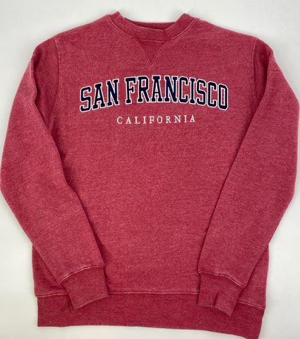 San Francisco Applique Vintage Wash Crew