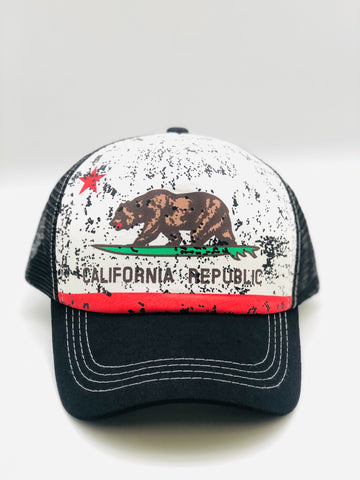 CA Surf Bear Snap Back Hat