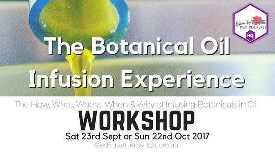 The Second Botanical Oil Infusion Experience Workshop
