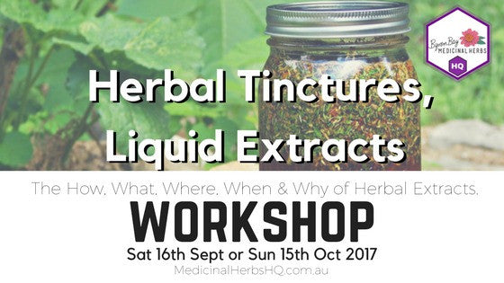 Tincture making workshop byron bay