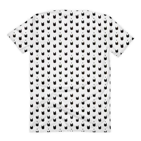 Women T-Shirt | All Over Cat Head