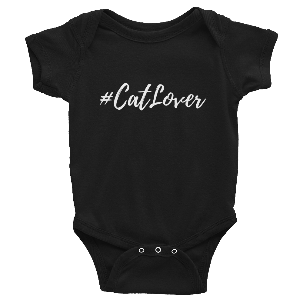 Baby Short Sleeve One-Piece | #Cat Lover