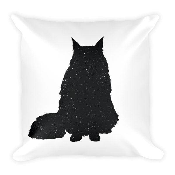 Decorative Pillow | Fluffy Sitting Cat