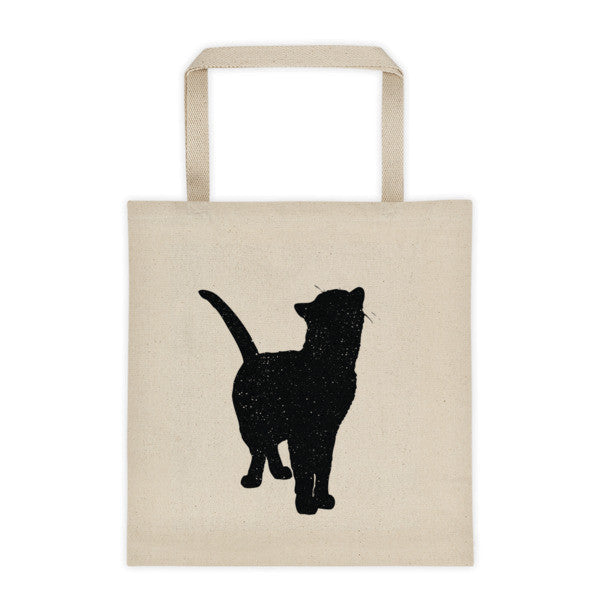 Cotton Tote Bag | Looking Up Cat