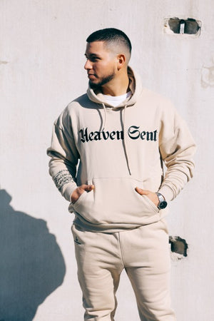 Beige Heaven Sent Sweat Pants - Hippie Kids