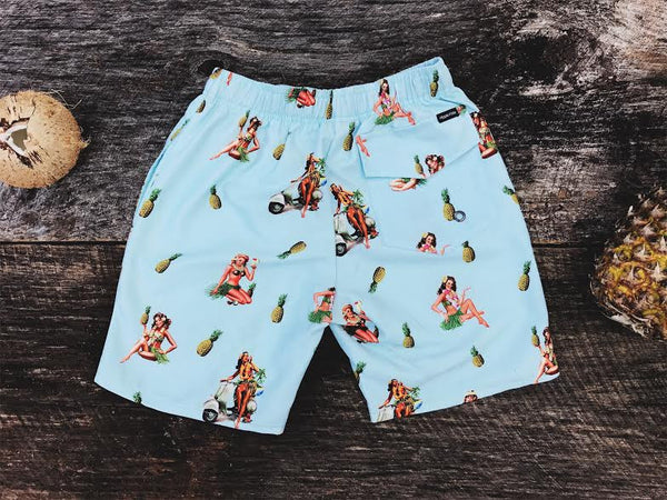 Aloha Girls Board Short - Hippie Kids