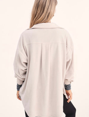Mist fleece oversized top