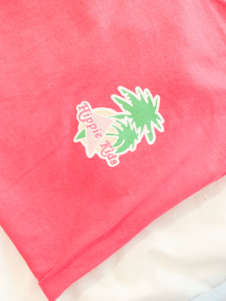 Hot pink beach bunny tee - Hippie Kids