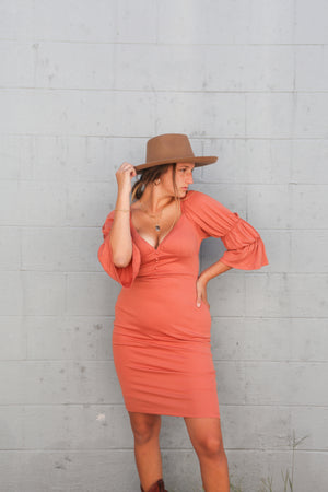 Peachy Cowgirl dress