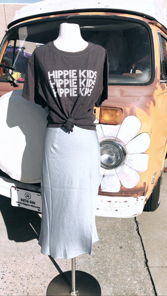 Blue Silky Skirt - Hippie Kids