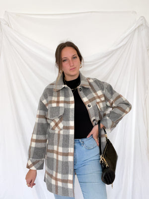 Sage Plaid Jacket