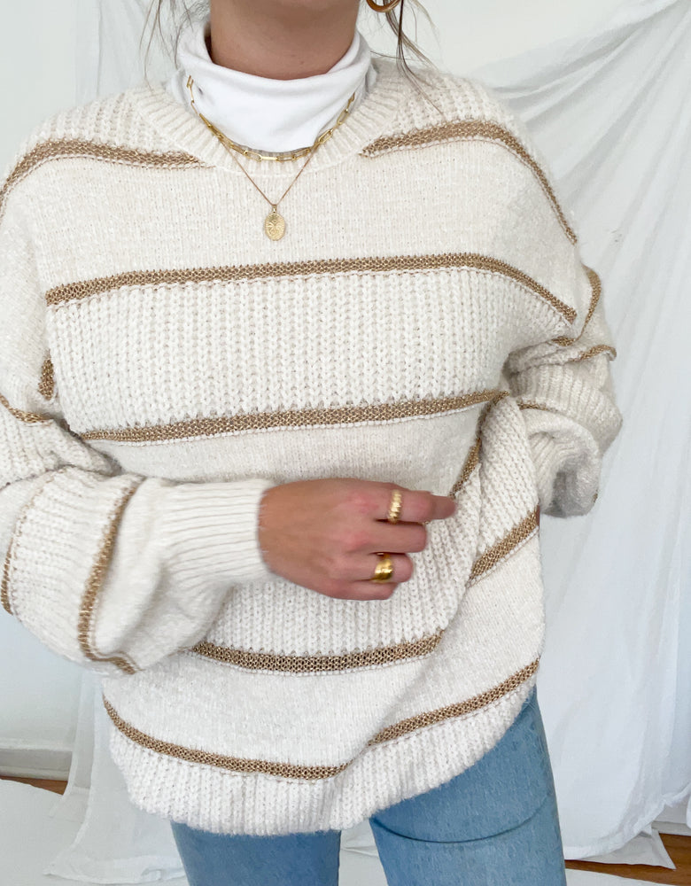 Cream sweater top
