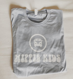 Sky blue faded logo tee - Hippie Kids