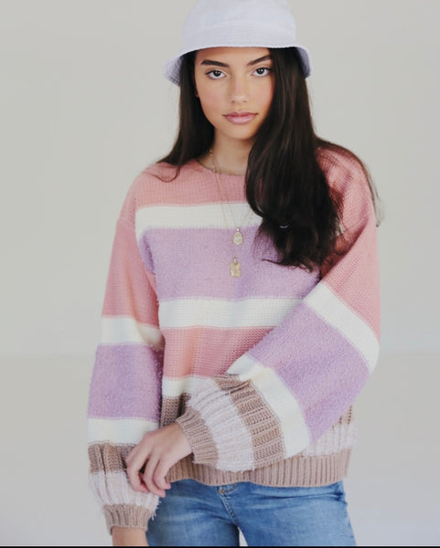 Lilac dreams sweater - Hippie Kids