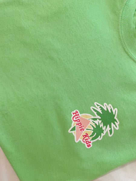 Neon Green beach bunny tee - Hippie Kids
