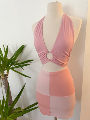 Pretty in pink Halter Top