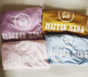 Lilac faded logo tee - Hippie Kids
