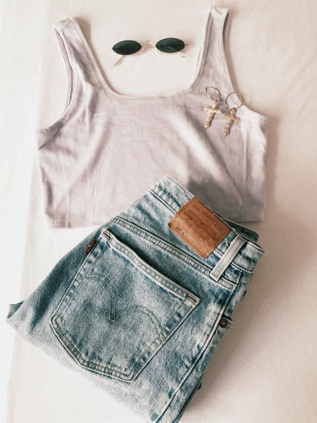 Lilac Crop top - Hippie Kids