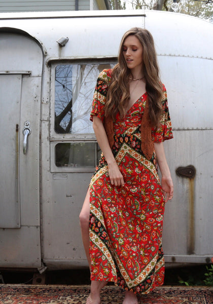 Copper wood dress - Hippie Kids