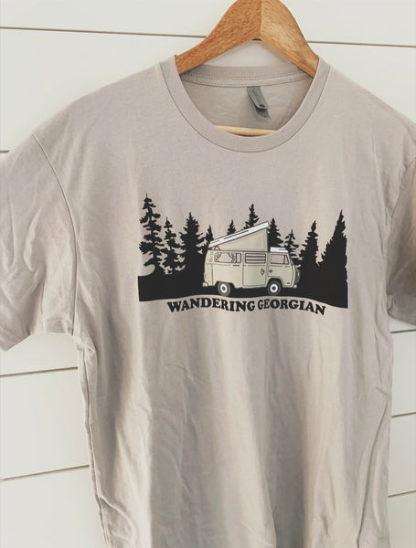 Grey Wandering Georgian Tee - Hippie Kids