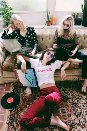 Wine Velvet Bell Bottoms - Hippie Kids