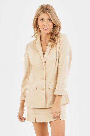 long beach oatmeal blazer - Hippie Kids
