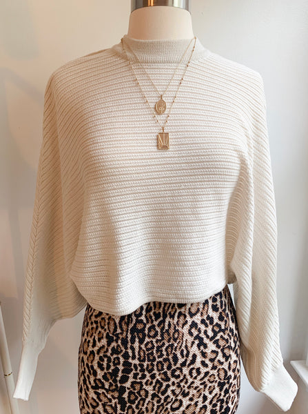 Oatmeal crop sweater - Hippie Kids