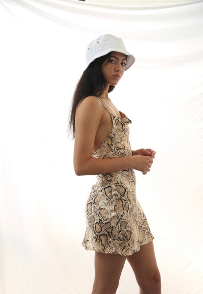 Snake skin silky dreams dress