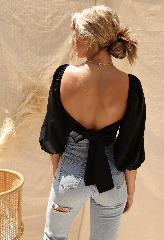 Sawyer Top in Black