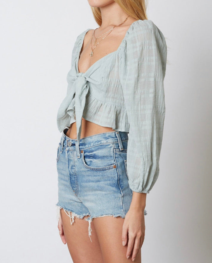 Riley Top in sage - Hippie Kids
