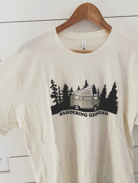 Cream Wandering Georgian Van Tee - Hippie Kids