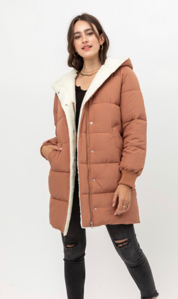 Dusty Rose Parka