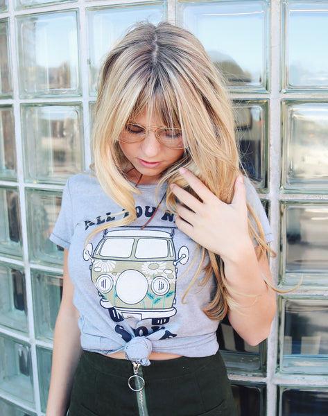 All You Need Is Love Grey Tee - Hippie Kids