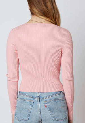 Sunset Pink Sweater - Hippie Kids