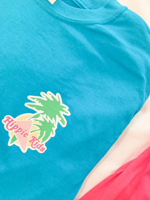 Tropical Beach bunny tee - Hippie Kids