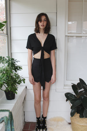 Black Envelope Skort - Hippie Kids
