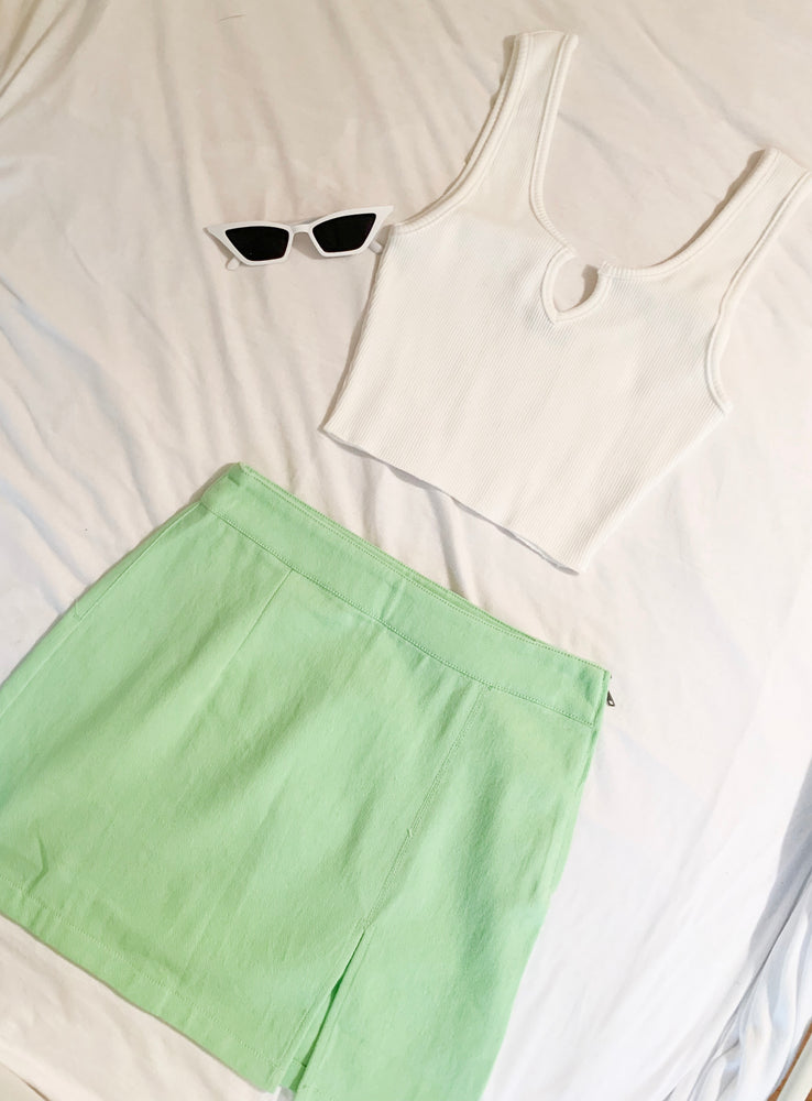 Neon Green Skirt - Hippie Kids