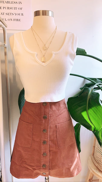 Rust corduroy skirt - Hippie Kids