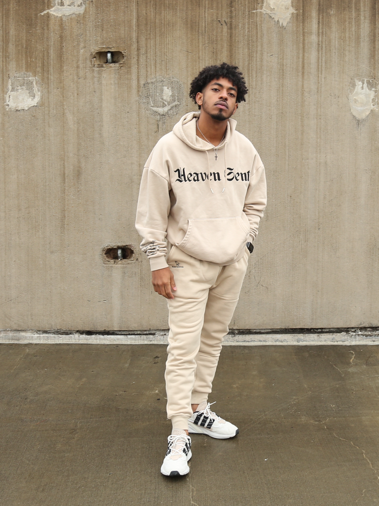 Heaven Sent beige Sweat Set