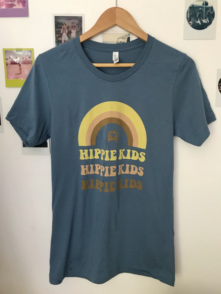 Steel Blue Hippie Kids Rainbow Tee - Hippie Kids