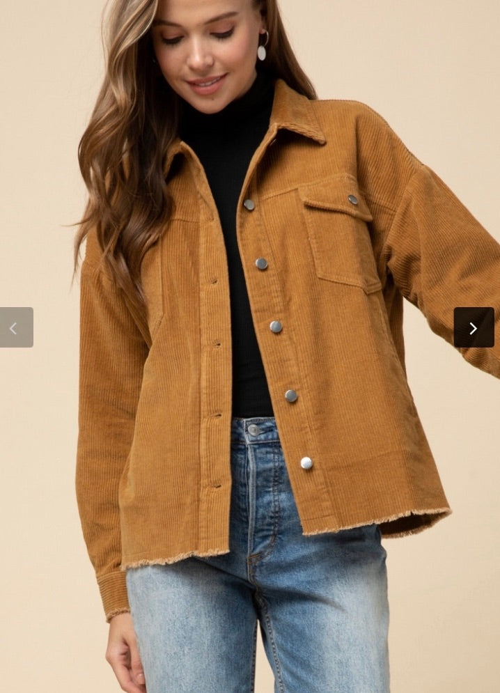 Tan Corduroy Jacket - Hippie Kids
